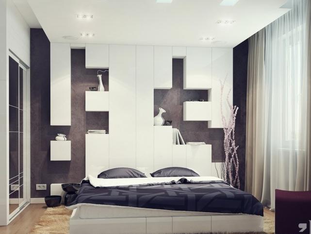 duvar dekorasyonu yatak odası