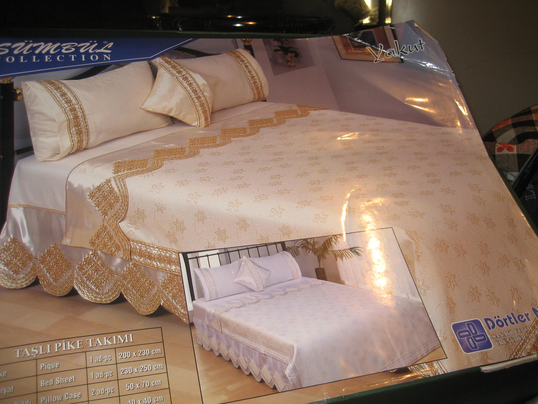 yatak örtüsü modelleri dantelli