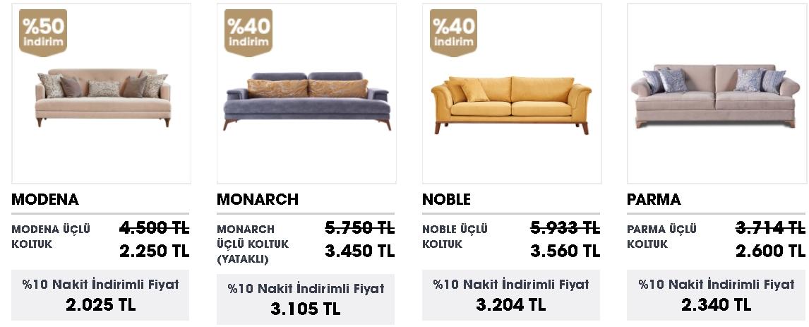 doğtaş üçlü koltuk modelleri ve fiyatları