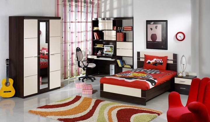 kırmızı genç odası