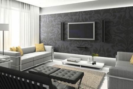 duvar dekorasyonu Tv ünitesi