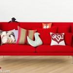 2014 kırmızı kanepe modelleri