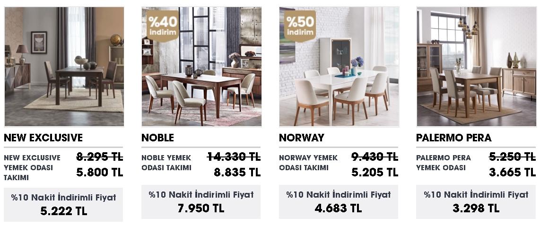 doğtaş Yemek Odası modelleri ve fiyat listesi