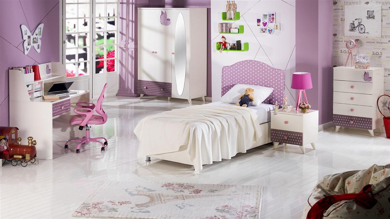 lila genç odası modelleri